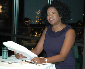 Poet Artress Bethany White reads her work at the launch of Mud Season Review on Saturday, September 20, 2014. White's work will appear in a forthcoming issue of MSR.