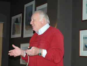 Howard Frank Mosher speaks to BWW members and the public at Hotel Vermont on Tuesday, October 21, 2014.