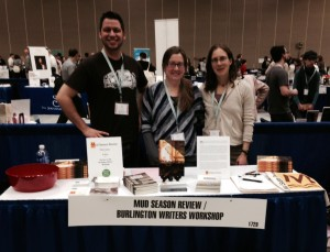Peter Biello, Danielle Thierry, and Rebecca Starks spent last week in Minnesota at AWP, showing writers the beauty of Mud Season Review.