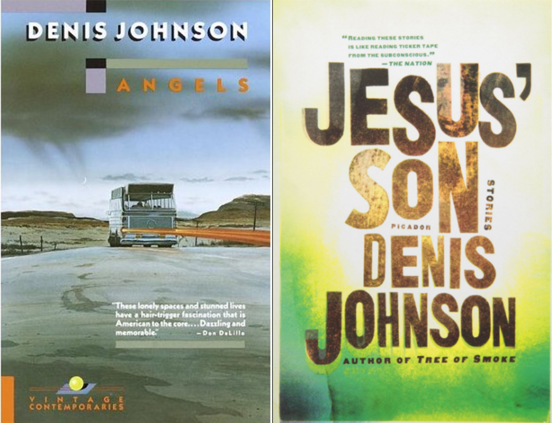 Denis Johnson novella covers